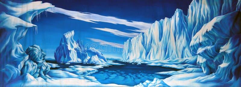 冰背景 皇族释放例证