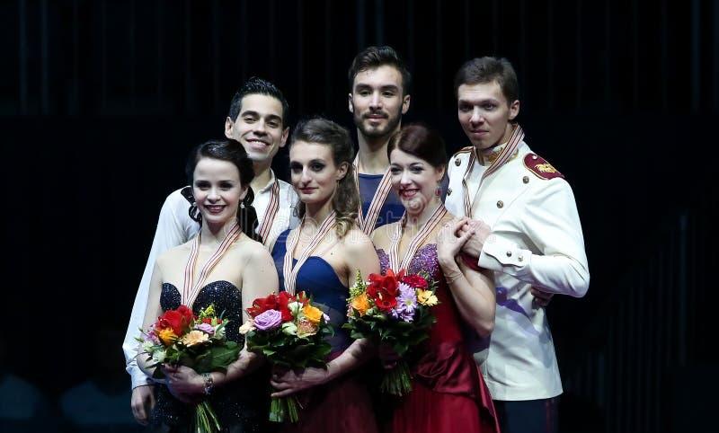 冰舞蹈胜利仪式 库存图片