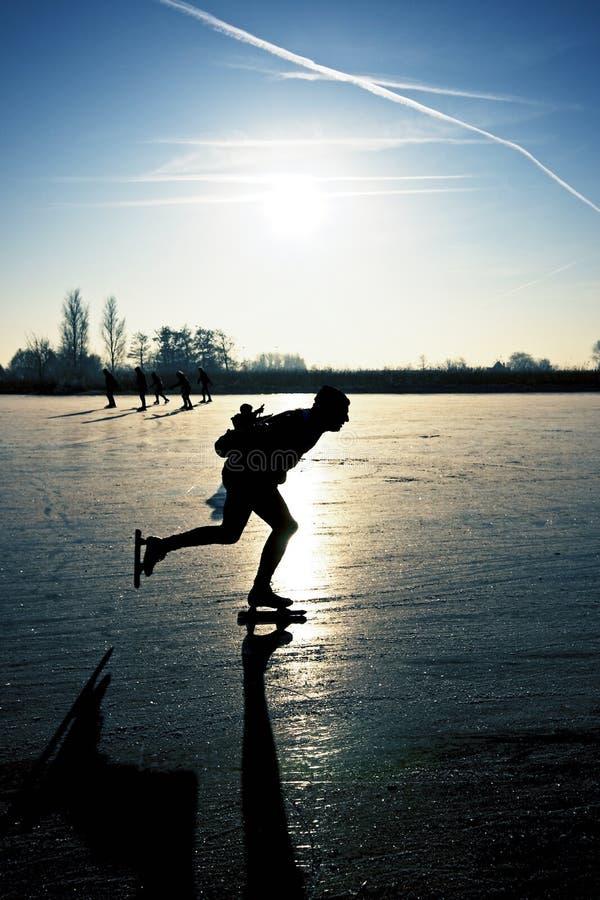 冰荷兰滑冰 库存照片