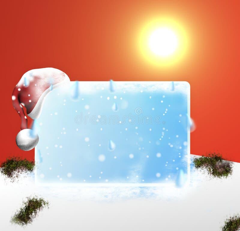 冰融解空白板3d设计 皇族释放例证