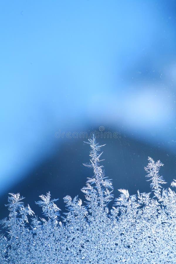 冰霜视窗 免版税库存照片