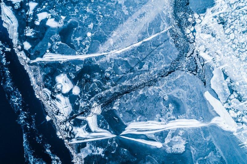 冰面的顶视图 图库摄影