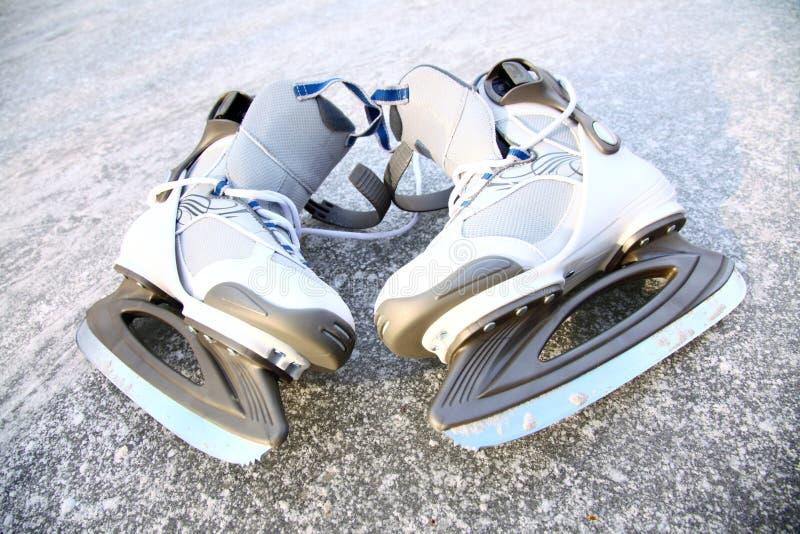 冰鞋滑冰户外冬天 库存图片