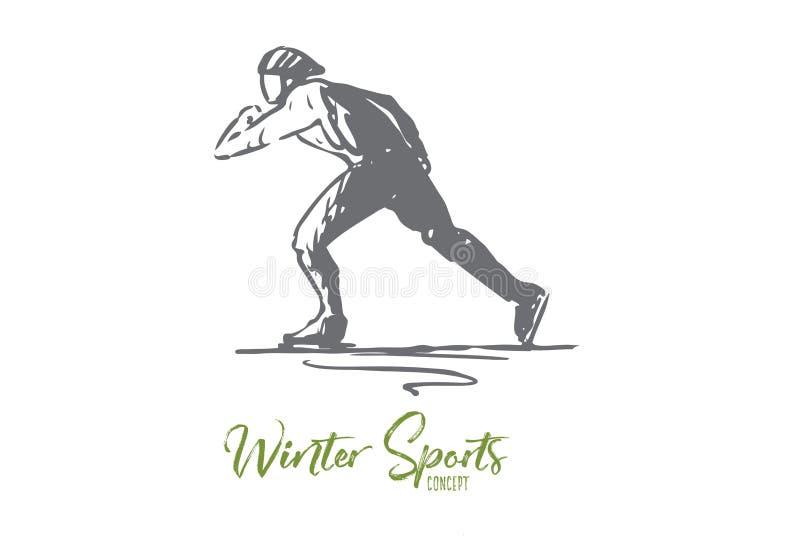 冰鞋,冬天,体育,速度,溜冰场概念 r 皇族释放例证