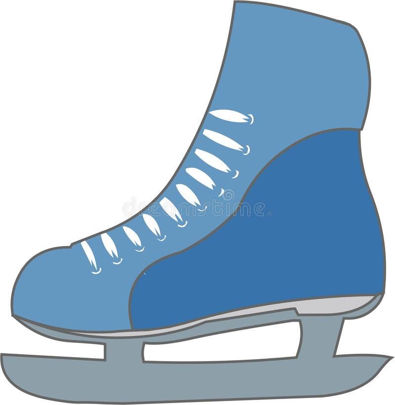 冰鞋 向量例证