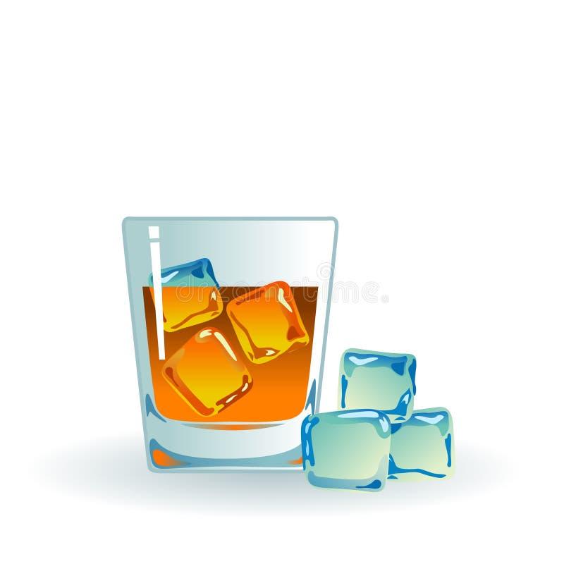 冰麦芽唯一威士忌酒 皇族释放例证