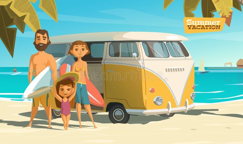 冲浪在这个夏天 享用它 向量例证