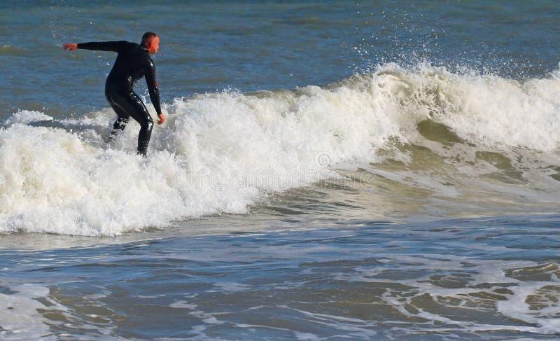 冲浪波浪在英国 库存照片