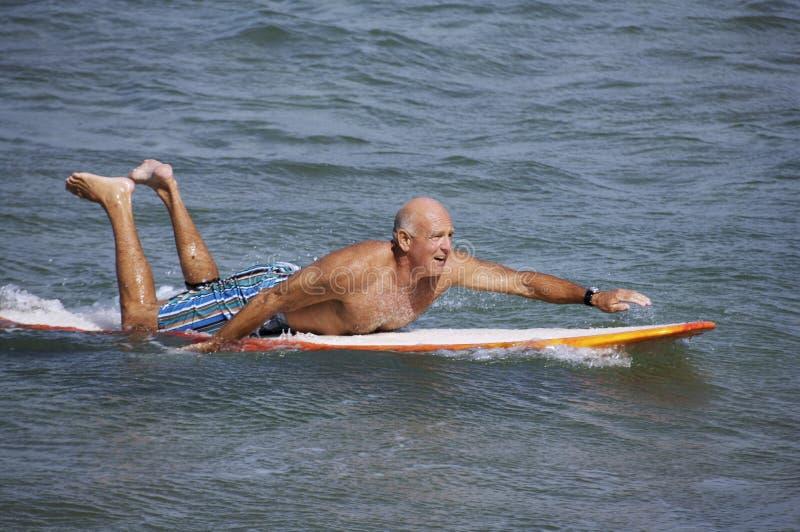 冲浪的兴奋 图库摄影