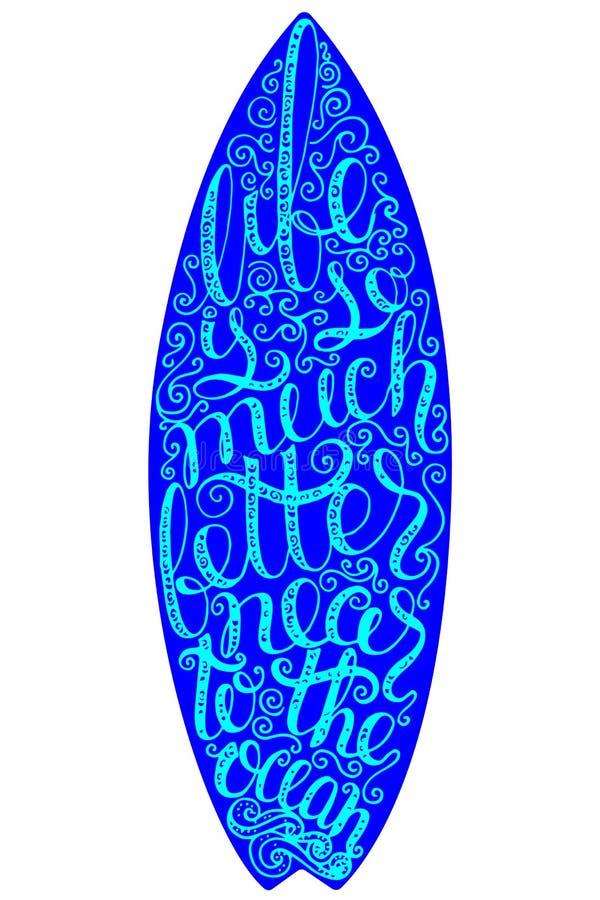 冲浪的图表和海报网络设计或印刷品的 海浪印刷术徽章 冲浪板封印,元素,标志 夏天 向量例证