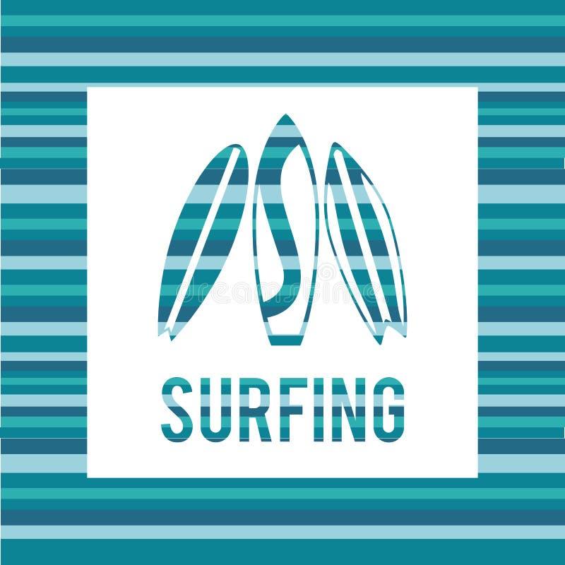 冲浪的设计 向量例证