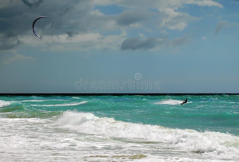 冲浪的风 免版税库存图片