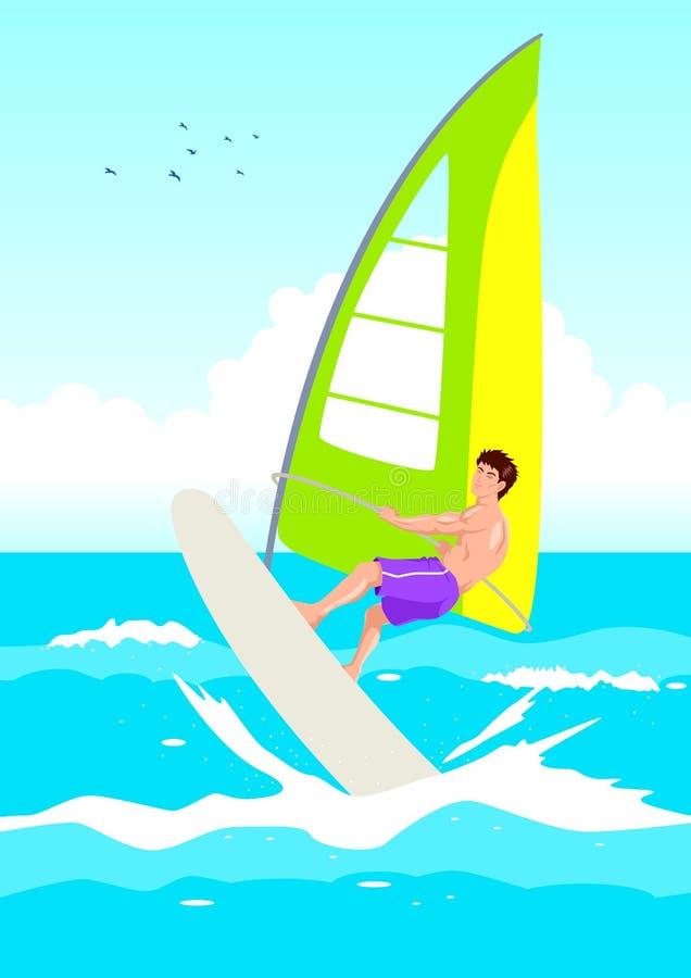 冲浪者风 向量例证