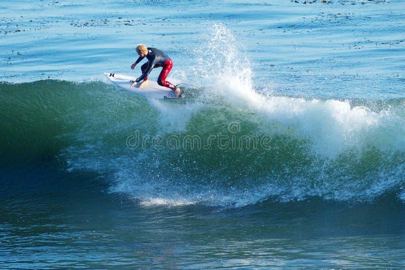 冲浪者nat新冲浪在圣克鲁斯,加利福尼亚 免版税库存照片