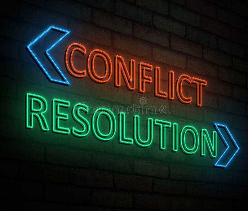冲突和决议概念 库存例证