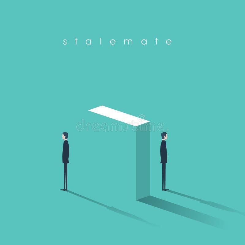 冲突概念在企业摘要的传染媒介例证 在分歧的对峙状态,争论 向量例证