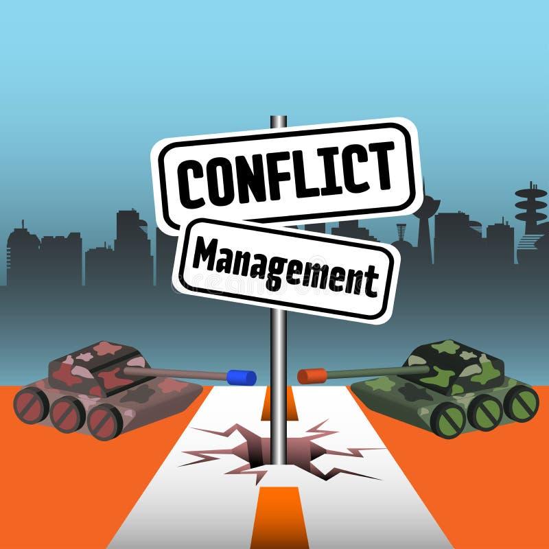 冲突管理 库存例证