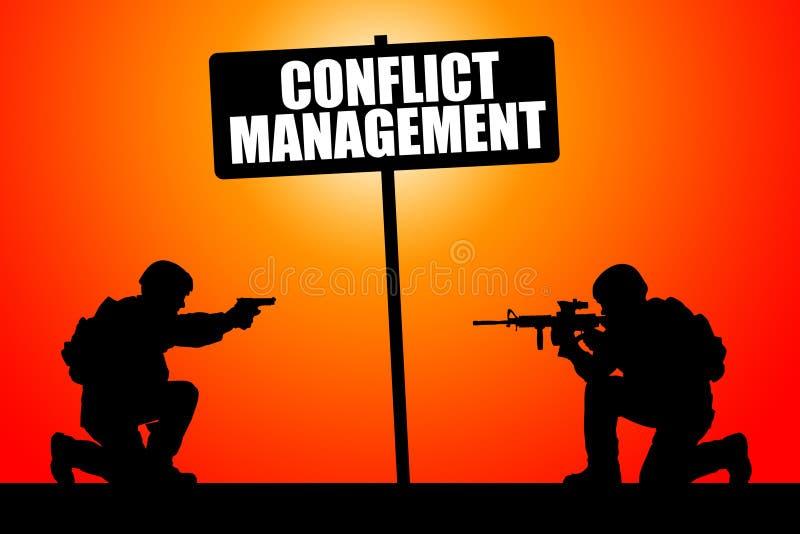 冲突管理 皇族释放例证