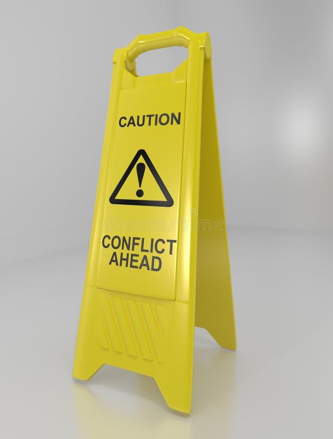 冲突警告概念 向量例证