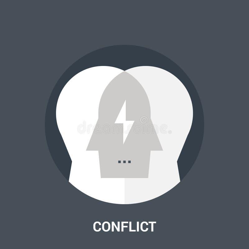 冲突象概念 向量例证