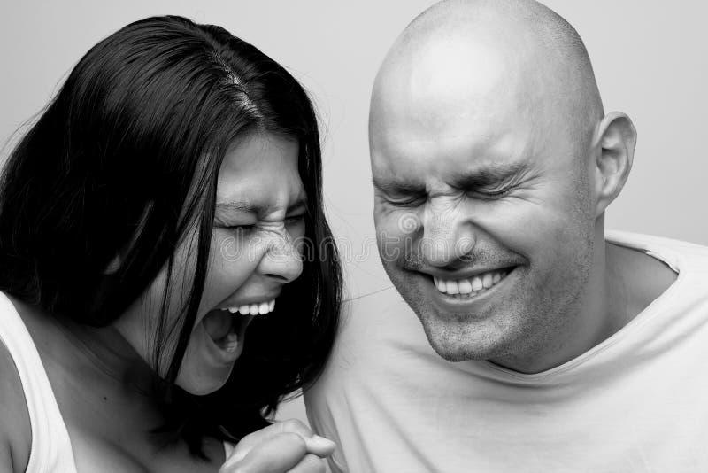 冲突,年轻夫妇 库存图片