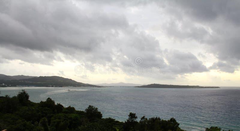 冲绳岛海岸 图库摄影