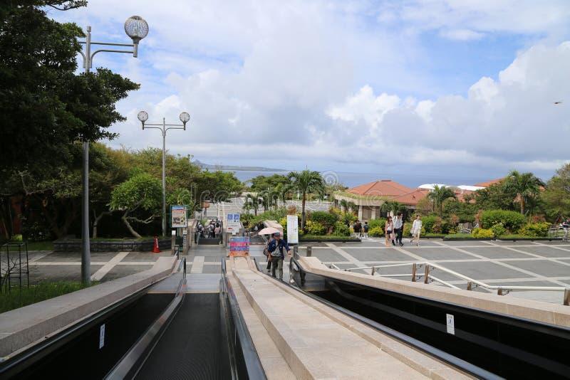 冲绳岛- 10月9日:冲绳岛Churaumi水族馆在冲绳岛, 2016年10月9日的日本 库存照片