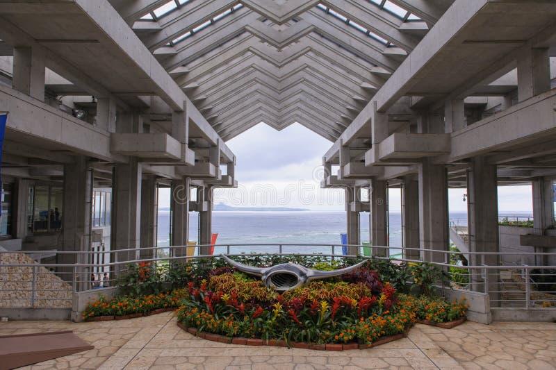 冲绳岛churaumi水族馆在日本 免版税库存图片