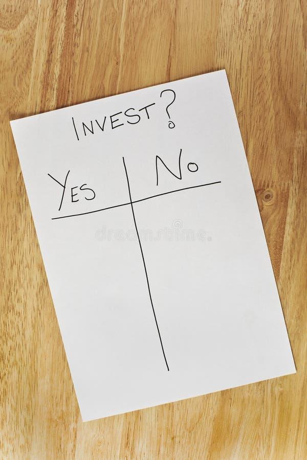 决策投资 免版税图库摄影