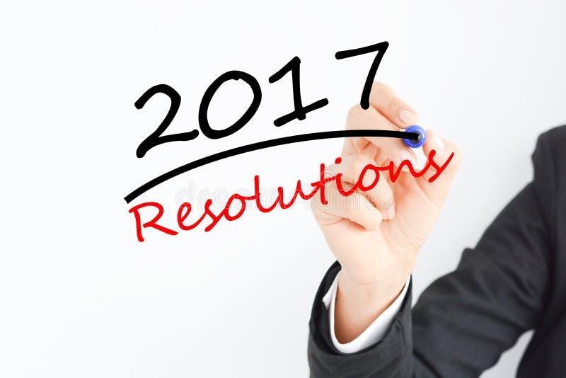 决议为即将来临的年2017年做准备 库存照片