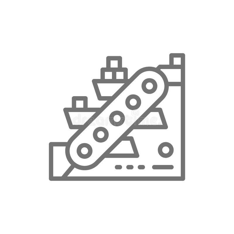 冶金学传动机,采矿业线象 向量例证