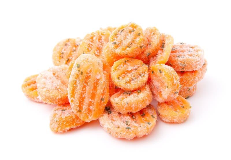 冷冻红萝卜 库存图片