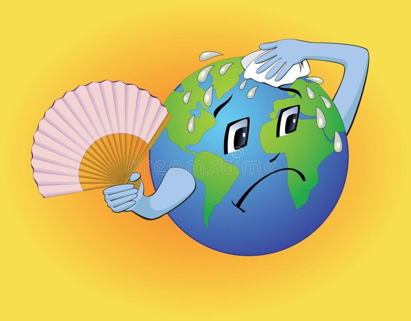 冷却下来地球需要 库存例证