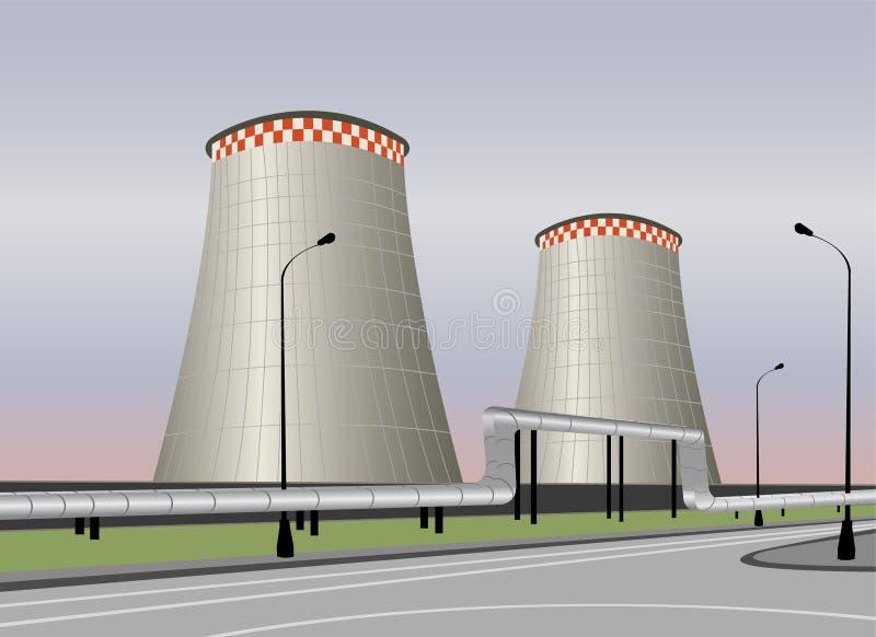 冷却塔向量 向量例证