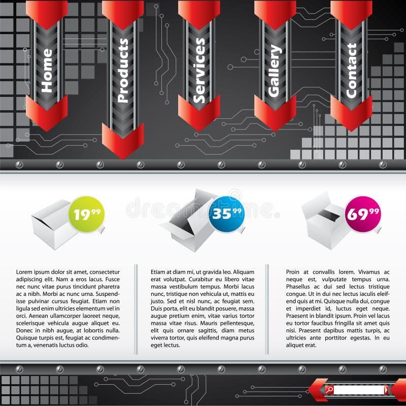 冷却设计eleme技术模板网站 库存例证