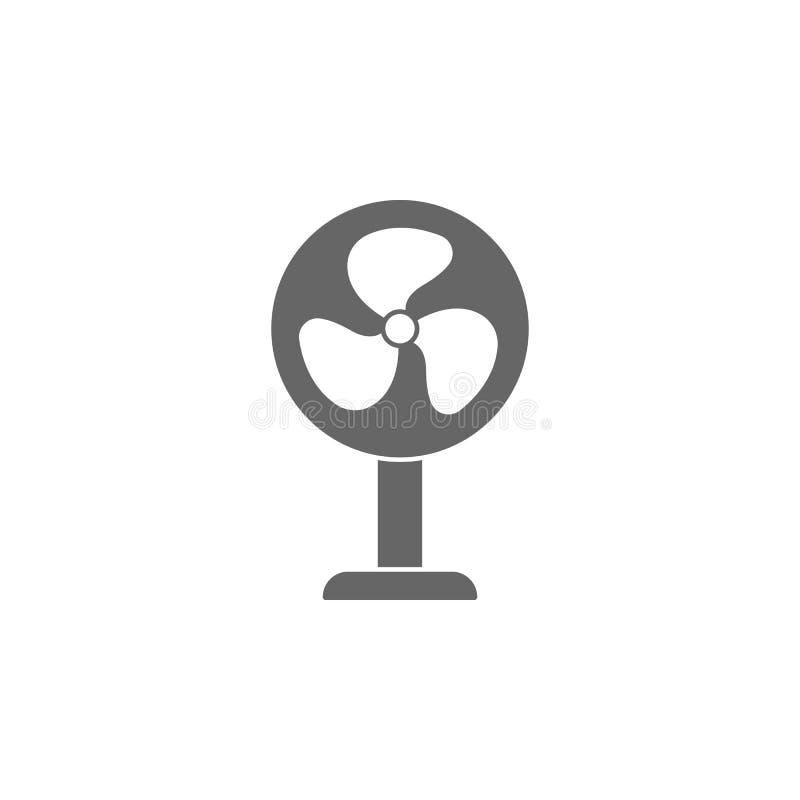 冷却风扇象 简单的元素例证 冷却风扇标志设计模板 能为网和机动性使用 库存例证