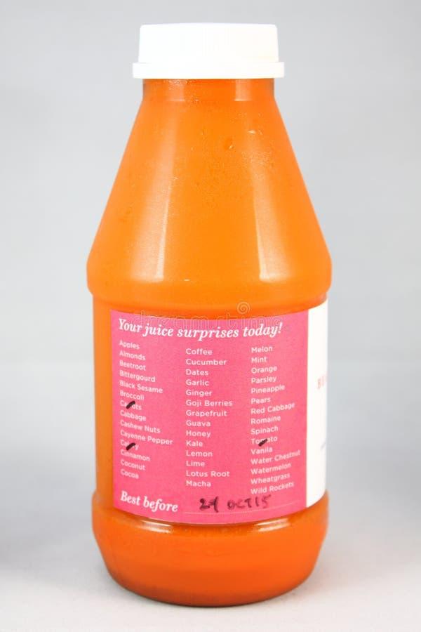 经冷压制作过的汁液 库存照片
