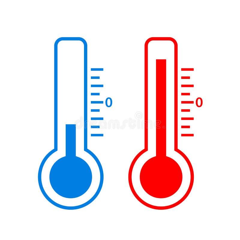 冷和热的温度传染媒介象 库存例证
