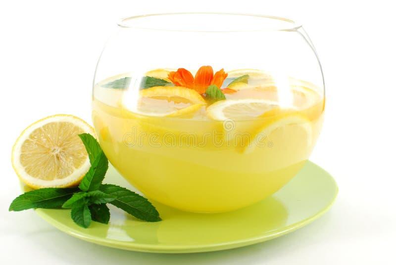 冷新鲜的柠檬水 库存图片
