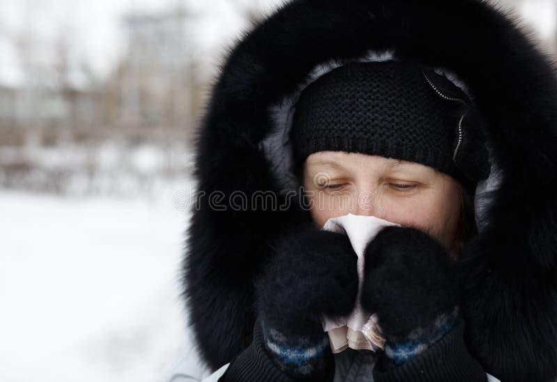 冷流感 库存照片