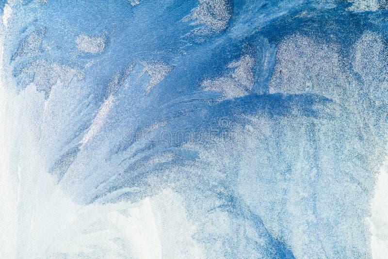 冷淡的模式视窗 背景美丽自然 背景能例证主题使用的冬天 特写镜头 向量例证