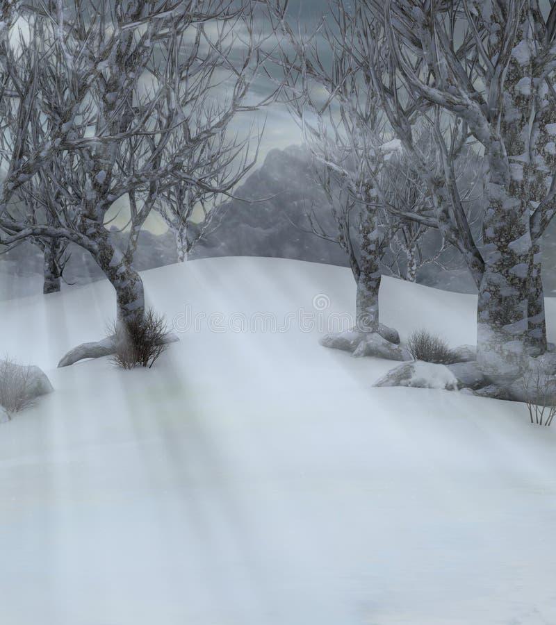 冷漠横向的结构树 向量例证