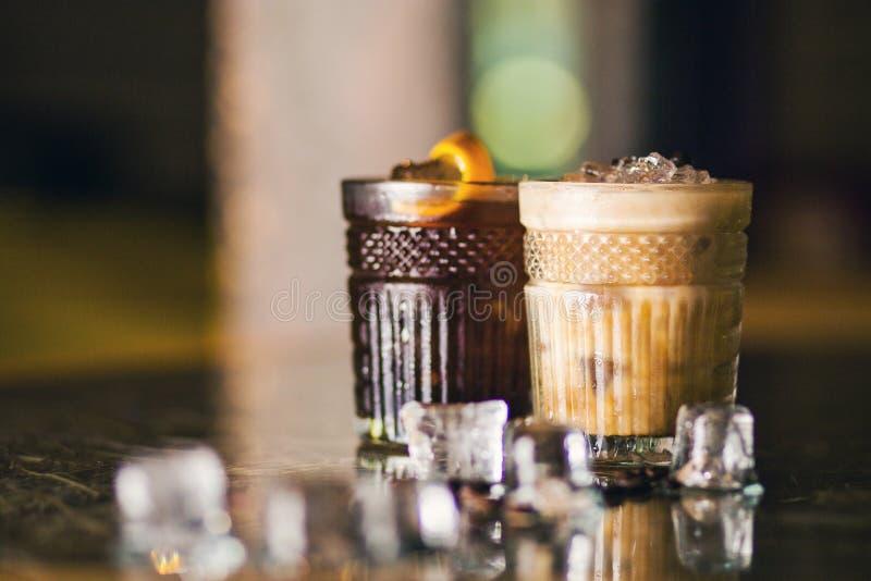 冷的咖啡鸡尾酒 免版税库存照片