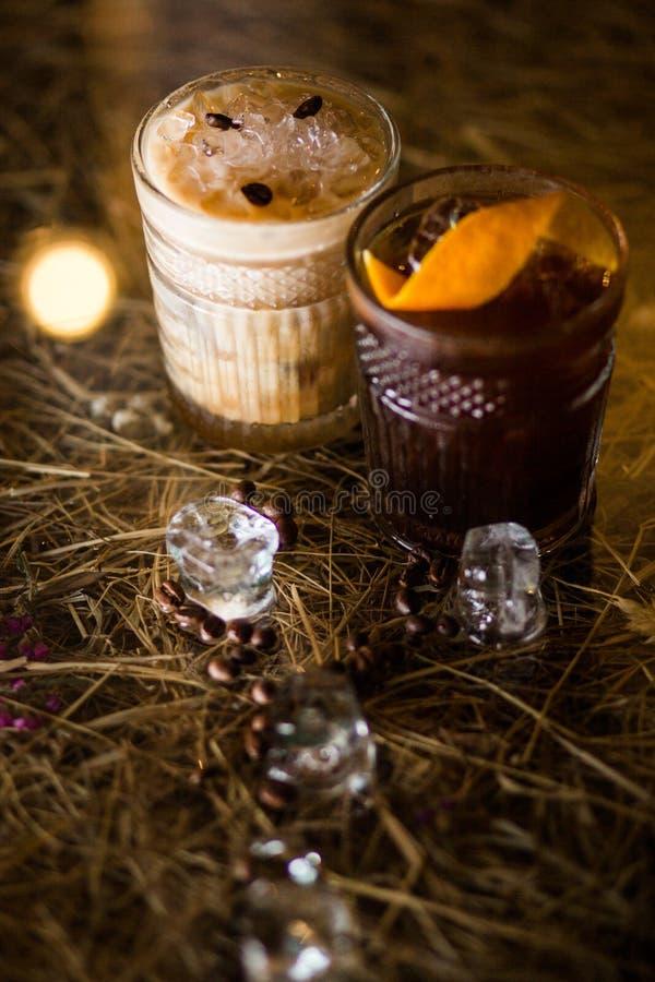 冷的咖啡鸡尾酒 图库摄影