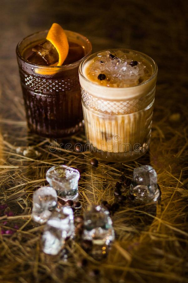 冷的咖啡鸡尾酒 库存照片