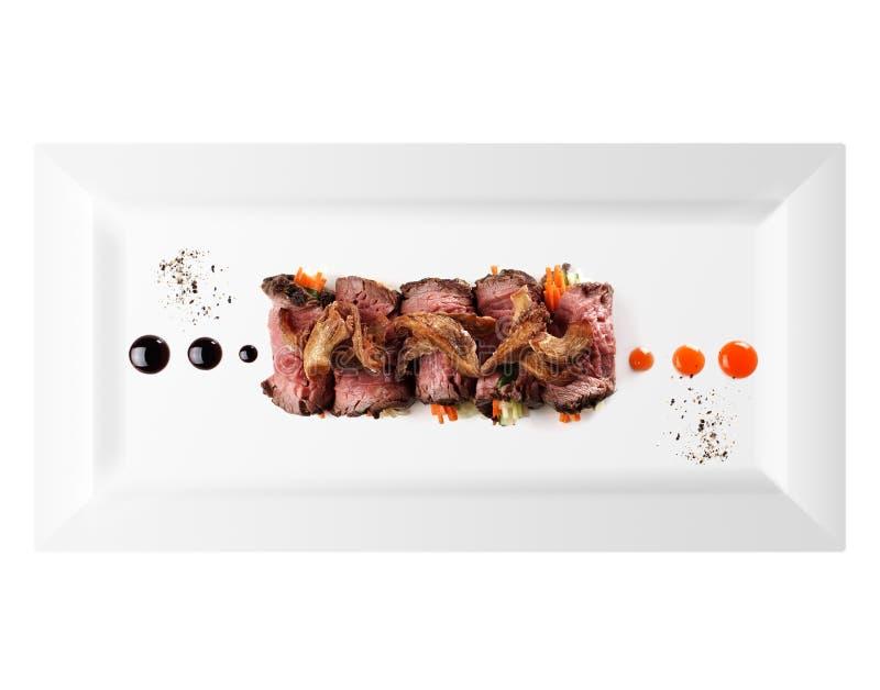 冷的开胃菜肉(白色背景) 免版税库存照片