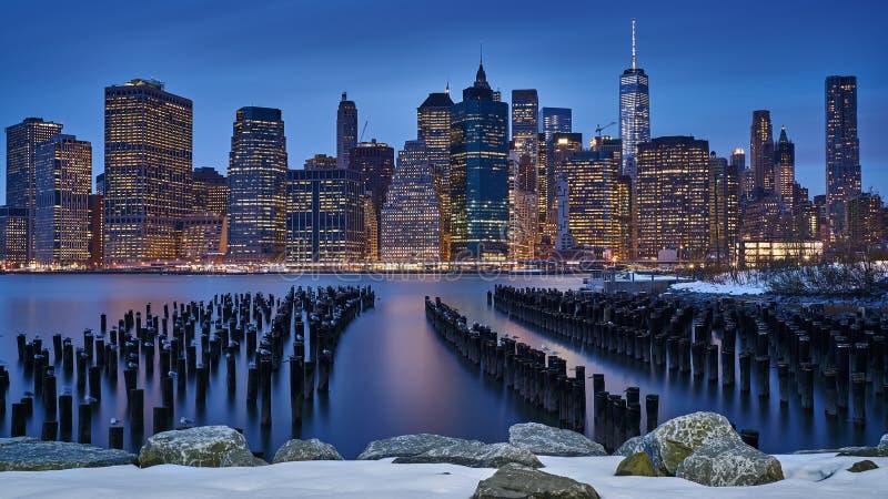 冷的曼哈顿 库存照片