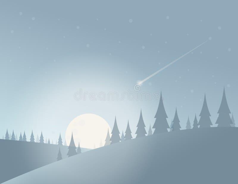 冷的月亮夜 图库摄影