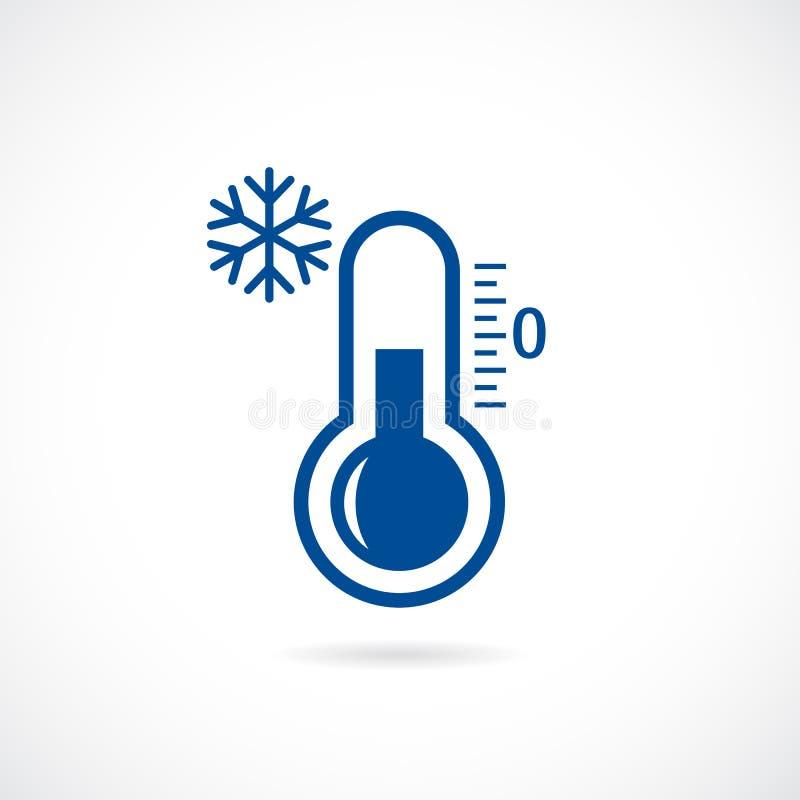冷的温度计传染媒介象 皇族释放例证
