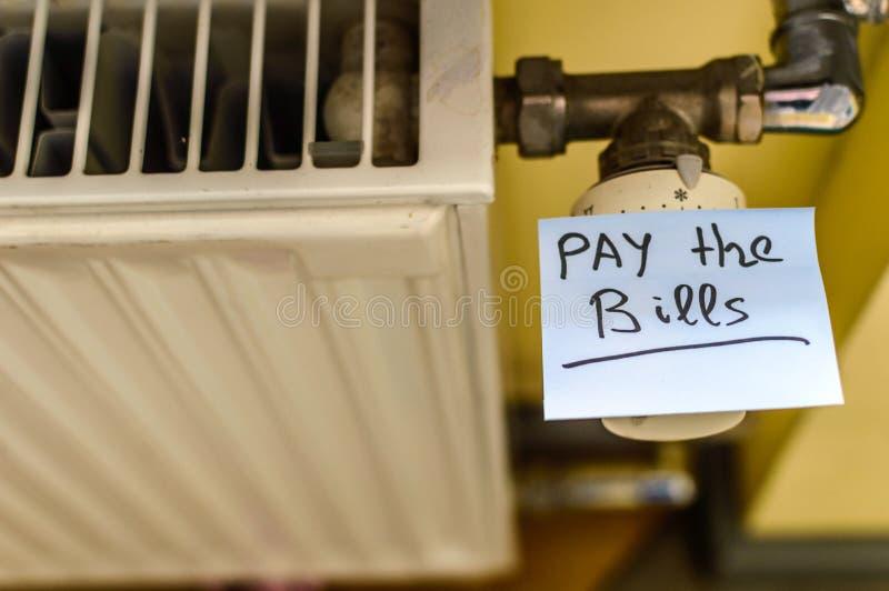 冷的热幅射器 库存照片